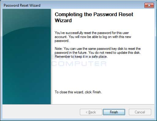Finished Resetting Password